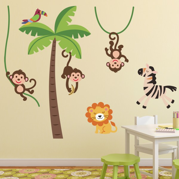 Stickers chambre bebe garcon jungle - Stickers jungle chambre bebe ...