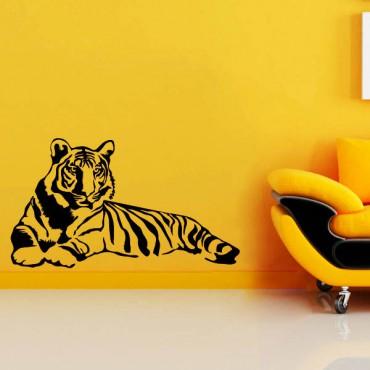 Sticker Tigre allongé - stickers animaux & stickers muraux - fanastick.com