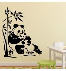 Sticker câlins de pandas