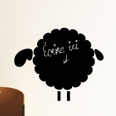 Sticker ardoise moutons 1