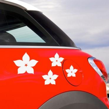 Sticker Fleurs étoiles - stickers fleurs & stickers muraux - fanastick.com