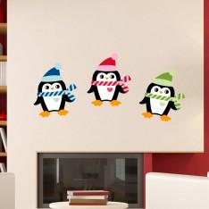 Sticker Pingouins de Noël