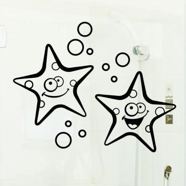 Sticker étoiles de mer souriant - stickers vitre & stickers muraux - fanastick.com