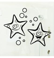 Sticker étoiles de mer souriant