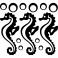 Sticker Hippocampes - stickers salle de bain & stickers muraux - fanastick.com