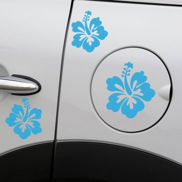Sticker Fleurs hibiscus - stickers fleurs & stickers muraux - fanastick.com