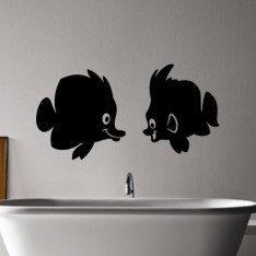 Sticker Couple poisson