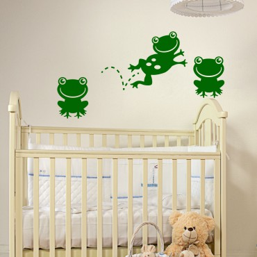 Sticker Crapauds sautant et assis - stickers animaux enfant & stickers enfant - fanastick.com