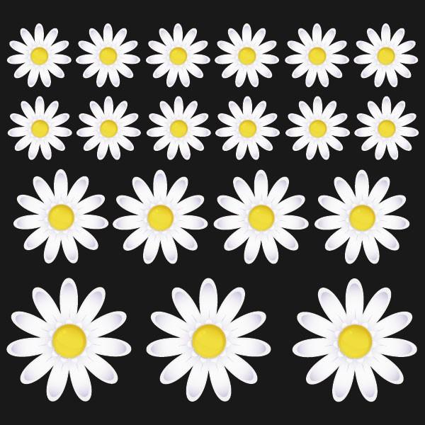 sticker fleurs marguerite stickers fleurs stickers. Black Bedroom Furniture Sets. Home Design Ideas