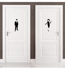Sticker Picto Femme & Homme élégant