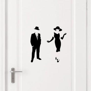Sticker Picto Femme & Homme élégant - stickers porte & stickers deco - fanastick.com