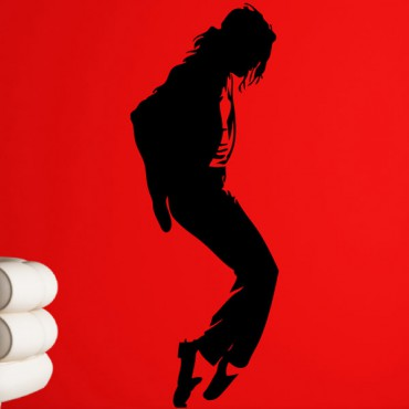 Sticker Michael Jackson Moonwalk - stickers personnages & stickers muraux - fanastick.com