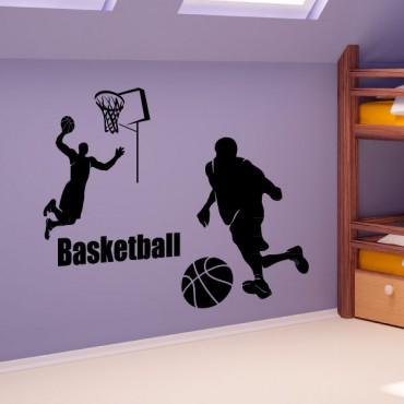 Sticker Les joueurs de basket - stickers chambre garçon & stickers enfant - fanastick.com