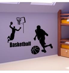 Sticker Les joueurs de basket