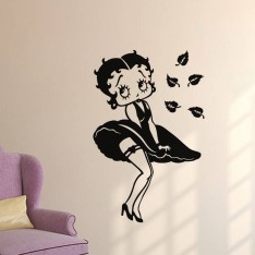 Sticker Betty Boop au printemps