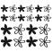 Sticker Fleurs modernes - stickers fleurs & stickers muraux - fanastick.com
