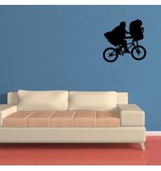 Sticker E.T. vélo volant