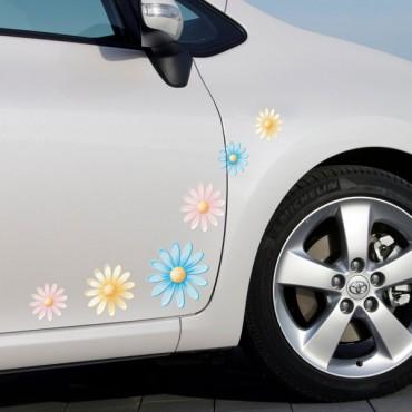 Sticker Fleurs multicolores - stickers fleurs & stickers muraux - fanastick.com
