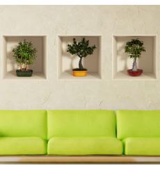 Sticker effet 3D bonsai