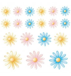 Sticker Fleurs multicolores