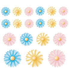 Sticker Fleurs multicolores 2