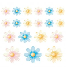 Sticker Fleurs multicolores 3