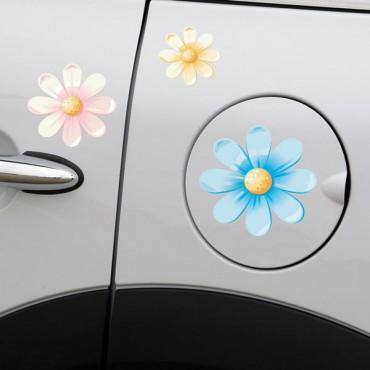 Sticker Fleurs multicolores 3 - stickers fleurs & stickers muraux - fanastick.com