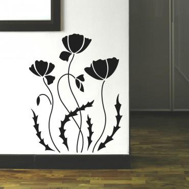 Sticker Fleur coquelicots - stickers fleurs & stickers muraux - fanastick.com