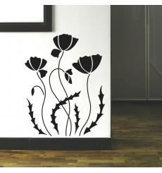 Sticker Fleur coquelicots