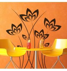 Sticker Petales de fleurs tiges fines