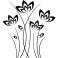 Sticker Petales de fleurs tiges fines - stickers fleurs & stickers muraux - fanastick.com