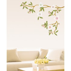 Sticker Arbre magnolia en fleurs