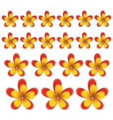Sticker Fleurs rouges