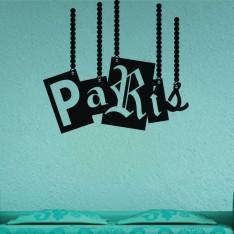 Sticker Un pendentif Paris