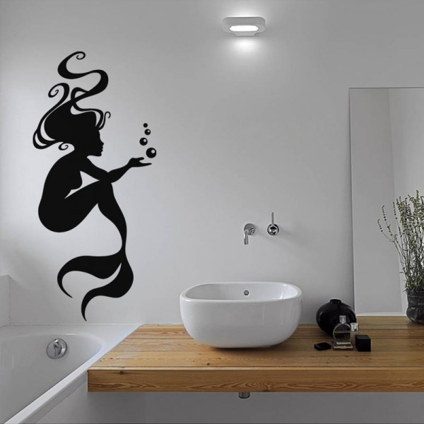 sticker sir ne et bulles stickers salle de bain stickers muraux. Black Bedroom Furniture Sets. Home Design Ideas
