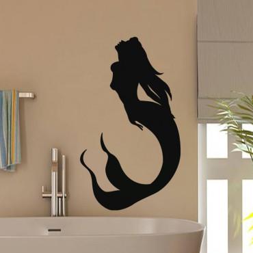 Sticker Silhouette sirène - stickers salle de bain & stickers muraux - fanastick.com