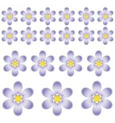 Sticker Fleurs violettes