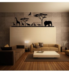 Sticker Savane Africaine et ses animaux