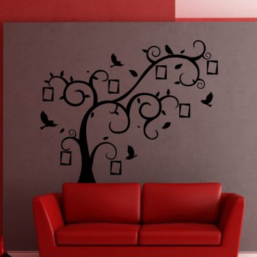 Sticker Arbre, oiseaux et cadres - stickers arbre & stickers muraux - fanastick.com