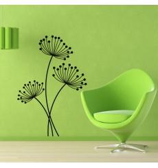 Sticker Design Fleurs aux tiges minces