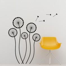 Sticker Design Coeurs formant des fleurs