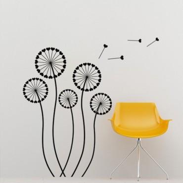 Sticker Design Coeurs formant des fleurs - stickers pissenlit & stickers muraux - fanastick.com