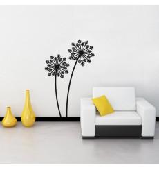 Sticker Design fleur flocon de neige