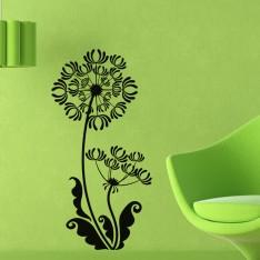 Sticker Design Fleurs à grandes feuilles