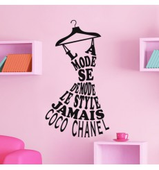 Sticker le style jamais - Coco Chanel