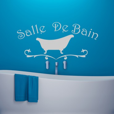 Sticker Salle de bain design baignoire - stickers salle de bain & stickers muraux - fanastick.com