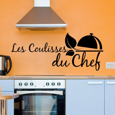 Sticker Les coulisses du chef - stickers citations & stickers muraux - fanastick.com