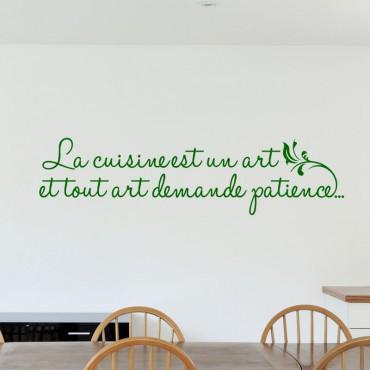 Sticker La cuisine est un art - stickers citations & stickers muraux - fanastick.com