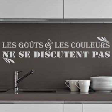 Sticker Les gouts et les couleurs - stickers citations & stickers muraux - fanastick.com