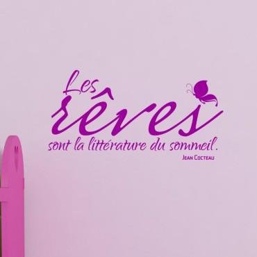 Sticker Les rêves sont - Jean Cocteau - stickers citations & stickers muraux - fanastick.com
